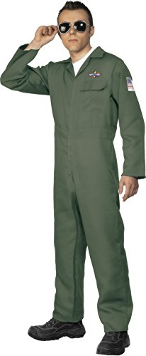 Best Price Men's Aviator Costume Zip Up Jumpsuit by Smiffys - X-Large