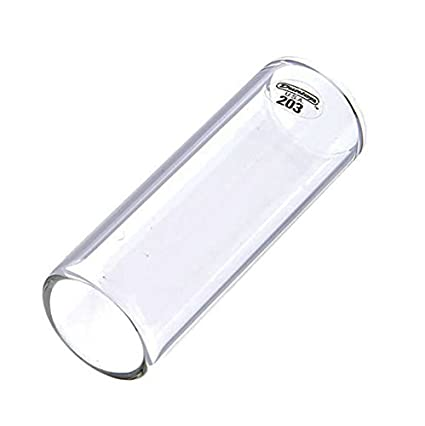 Amazon.com: SLIDES GUITARRA ELECTRICA - Dunlop (Mod.203) (Transparente) (Regular/Large) (21x25x69mm): Musical Instruments