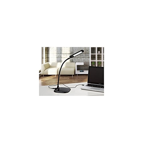 Schuller Spain 514234I4L Modern Black Adjustable Table Lamp 1 Light Living Room, bed room, Study, Bedroom LED, Black Adjustable neck desk lamp | ideas4lighting by Schuller