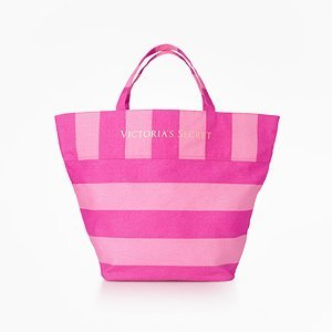 Amazon.com : Victoria's Secret Beach Bag Signature!!! : Cosmetic ...