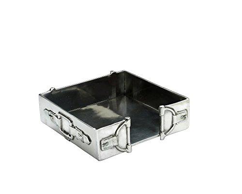Aluminum Equestrian Horse Bit Cocktail Napkin Box ()