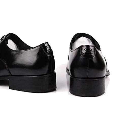 Stile Punta Scarpe Scarpe Stringate in Scarpe A Confortevole Black Basse Versione Europea Britannico da Pelle Uomo aO8Cwaq