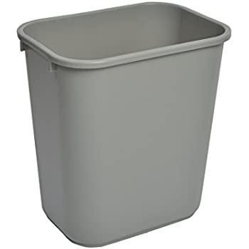 Janico 1037GY 10 Gallon Waste Basket
