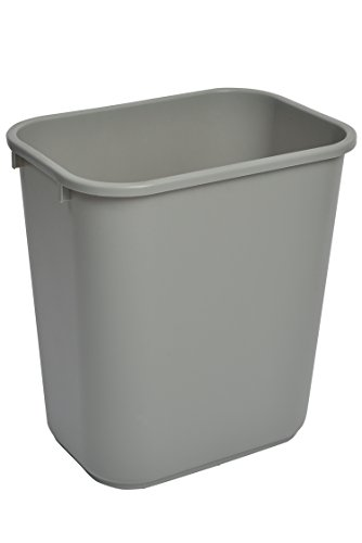 UPC 814473011681, Janico 1037GREY 41 Quart Rectangular Wastebasket, 10 Gallon Deskside Wastebasket, Grey