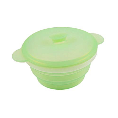 680 Ml Light - Durable Silicone Collapsible Travel Camping Bowl Outdoor Bowl(680ml,Light-Green)