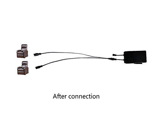 SLODA Fauteuil Elévateur Electrique Inclinable Câble Séparateur à 2 Broches Y Câble Séparateur Cordon Connexion de 2 Moteurs à 1 Alimentation pour Fauteuil Elévateur Inclinable Electrique