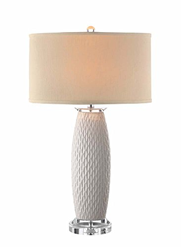 (Stein World Furniture Ceramic Table Lamp, White)