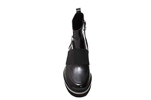Noir Boots Elastic in 2032 Shiny Cafè LEF133 Acciaio with I17 Leather Multi UnBfxw4wq