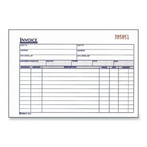 adams invoice book 2 part carbonless 8 7 16 x5 9 16 50 set bk