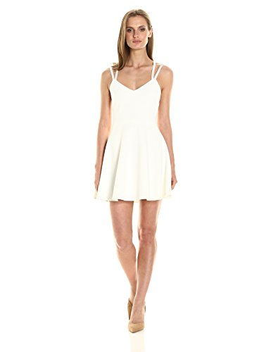 French Connection Women's Whisper Light Sleeveless Strappy Stretch Mini Dress, Summer White, 6 by French Connection
