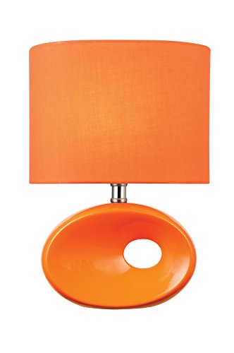 "Lite Source LS-22315ORN Hennessy Table Lamp, 5"" x 9"" x 13"", Orange"