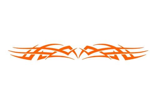 Sticky Creations   Design  102 Tribal Scallop Windshield Decal Sticker Vinyl Graphic Rear Back Window Banner Tailgate Car Truck Van Boat Motorcycle Go Cart Trailer   36 X4 25    Orange