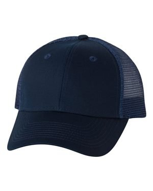 Valucap Twill - Valucap Twill Trucker Cap Adjustable Navy