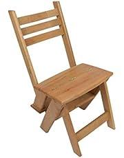 كرسي سلم من الخشب الذان 3 درجات يصلح في استخدام الغرف والمطابخ