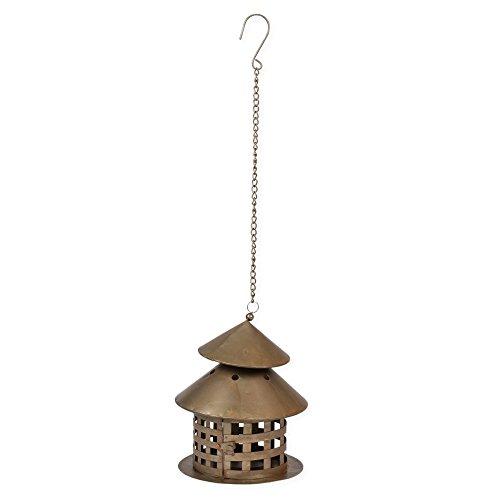 opper Tone 10 inch Metal Hanging Lantern Decoration ()