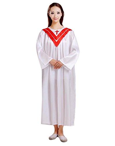 Unisex Priest Pastor Christian Church Robes Red Collar 150 (Priest Collar Costume)