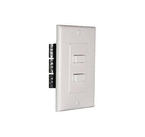 Niles AB2D White (FG00395) Wall Mounted Speaker/Amplifier Selector (Niles Faceplates)