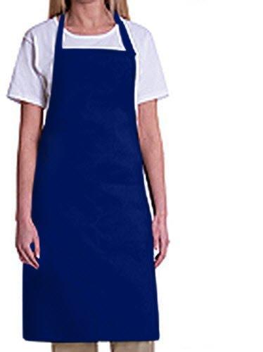 Bib Aprons-MHF Aprons-1 Piece Pack-2 Waist Pockets- New Spun Poly-commercial Restaurant Kitchen-(Royal Blue)