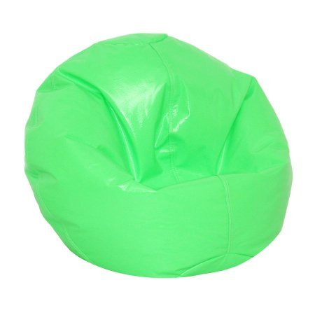 American Furniture Alliance Wetlook Vinyl Junior Pure Bead Bean Bag Neon Green