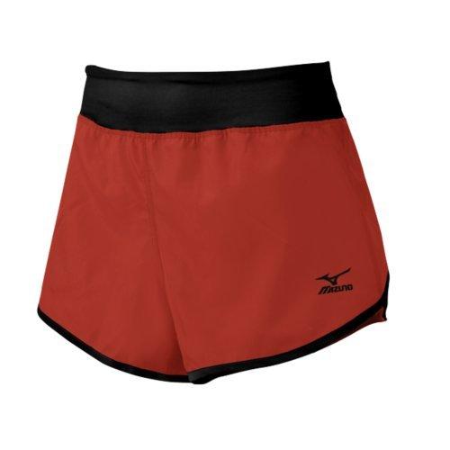 Mizuno Dynamic cubrir pantalones cortos de la mujer Rojo/Negro