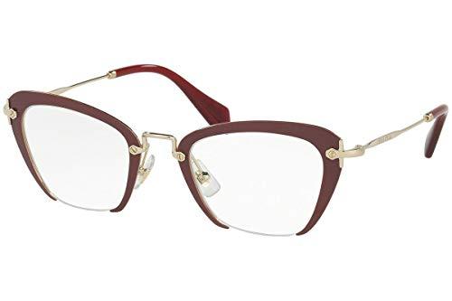 - MIU MIU Eyeglasses MU 54OV UA51O1 Amaranth 47MM