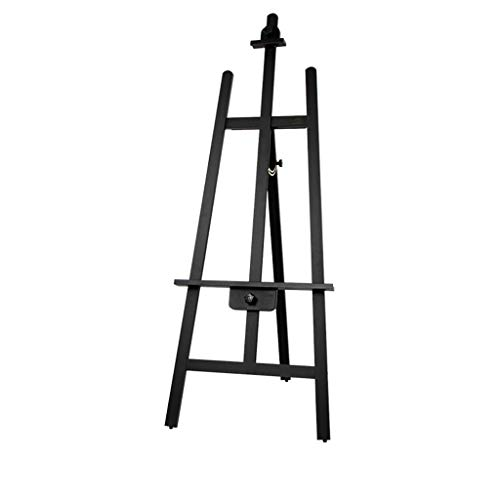 (RMXMY Pine Black Paint Easel Solid Wood Oil Painting Frame Wooden Advertising Real Estate Exhibition Studio Art Easel (Color : A))