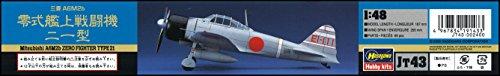Mitsubishi A6M-3 Zero Type 21 1/48 Hasegawa