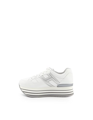 Hogan Pelle Donna Sneakers Argento Bianco HXW2830T548IJ70351 rqtrpw0