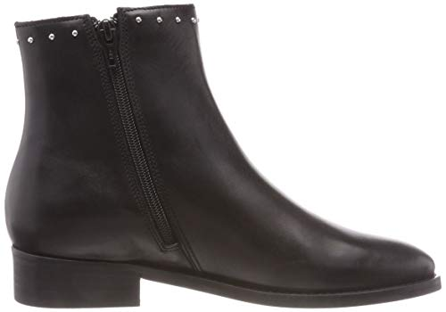 Negro Botines black Leather 00 Buffalo Mujer Sauvage 01 Para Cascade qUxgBA