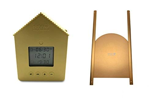 Elite Timer Chicken House Door Opener PLUS Elite Metal Chicken Coop Door/Pop Hole Titan Incubators