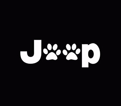 Jeep Wrangler Cat Dog Paw Print Car Window Vinyl Decal Stick