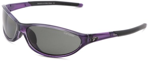 Tifosi Women's Alpe 2.0 Polarized Wrap Sunglasses, Crystal Purple, 62mm Lens Width