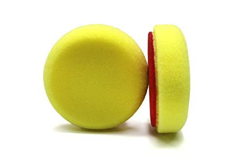 Maxshine Yellow Flat Foam Polishing Pad - 3 Inch/ 85mm