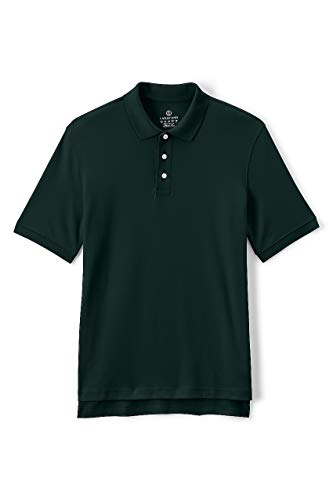 Lands' End School Uniform Men's Short Sleeve Interlock Polo Shirt