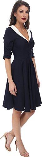 Unique Vintage Women's Eva Marie Dress Navy Dress 4XL (US 18)