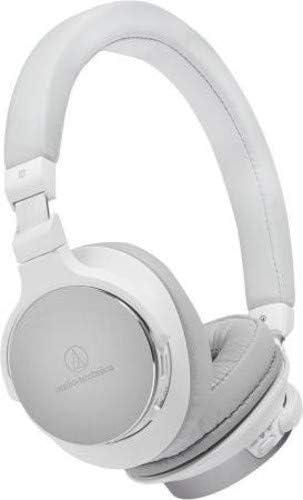 Audio-Technica ATH-SR5BTWH Bluetooth Wireless On-Ear High-Resolution Audio Headphones, White