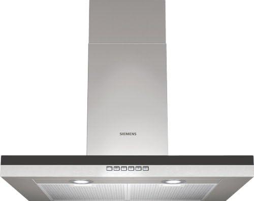 Siemens LC76BB530 - Campana (Recirculación, 430 m³/h, Montado en pared, Halógeno, Acero inoxidable, 210W): Amazon.es: Hogar