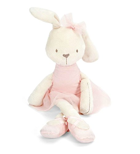 "Grocery House 16.54"" Soft Stuffed Rabbit Animal Bunny Baby Girl Kid Pink Pillow Toy"