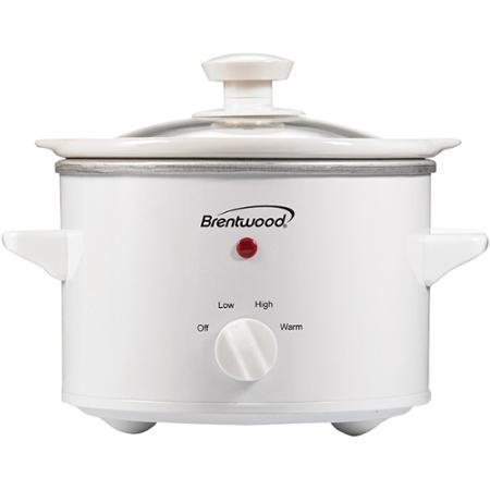 Brentwood  SC-115W  White  1.5 Quart Slow Cooker