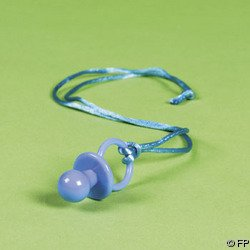 12 pc Boy Baby Shower Blue Pacifier Necklace Game, Health Care Stuffs