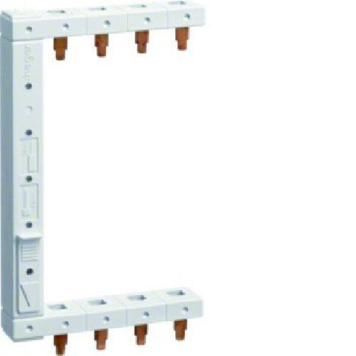 Busch-Jaeger Hager KDN363F Interruptor de Fase 3P+N 63A 10 mm/² 12 Conectores de Horquilla aislados Gris