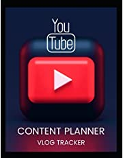 YouTube Content Planner: YouTube Planner. Vlog Planner, Video Planner, Video Checklist for YouTube Content Creator Success