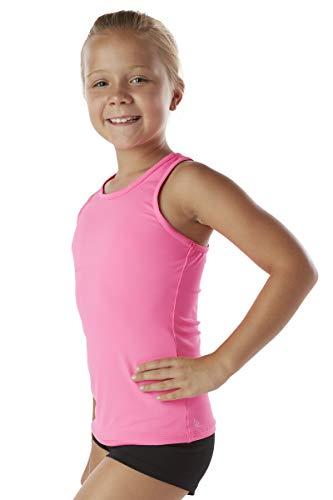 (Liakada Girls Basic Tank Top - Dance, Gym, Yoga, Cheer! Hot Pink)
