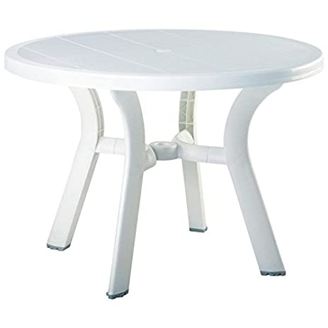 Truva Resin Round Dining Table 42 Inch (29u0026quot;H X 42u0026quot ...