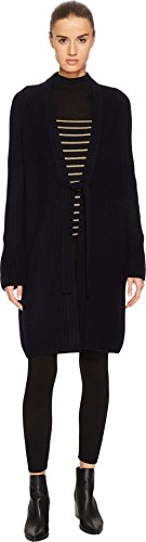 Cashmere Tie Front Cardigan (Vince Women's Saddle Shoulder Cardigan Black Large)