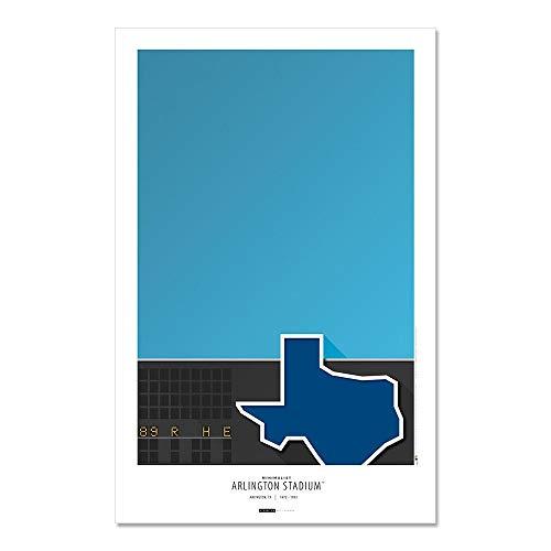 Arlington Stadium - Texas Rangers - Minimalist Art Poster Print (11X17 Inches)