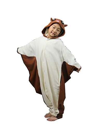 ifboxs Kids Flying Squirrel Animal Onesies Christmas Cosplay Costume Pajama Girls Boys(Coffee,5) ()