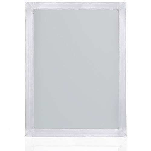 Caydo 10 x 14 Inch Large Aluminum Silk Screen Printing Frames with 110 White Mesh for Screen Printing