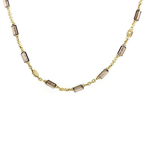 Judith Ripka Women's 18K Yellow Gold Diamond & Smoky Quartz Choker Necklace