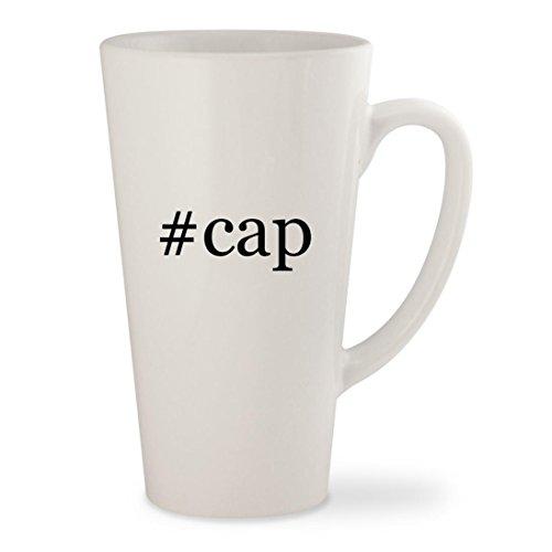 #cap - White Hashtag 17oz Ceramic Latte Mug Cup